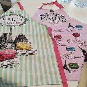 Paris Souvenir Aprons (sold separately) NWT